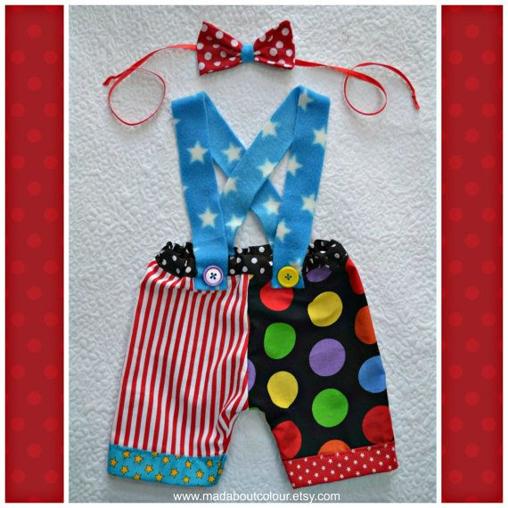 BaBY PHoTO PRoPs Newborn CiRCuS CLoWN Costume 0  by MadAboutColour, $48.00