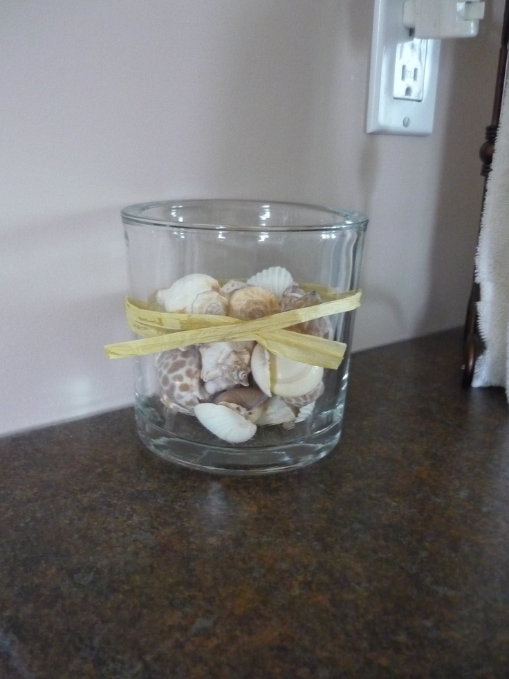 Shells I've incorporated into my bathroom