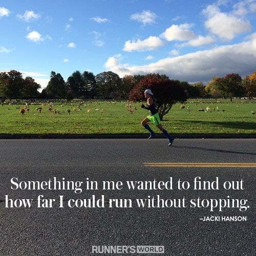 this is basically why I started running in the first place.  | Runner's World