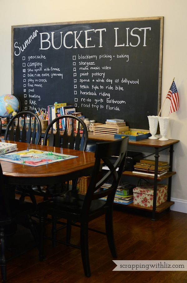 Create a Summer bucket list chalkboard wall | DIY ...