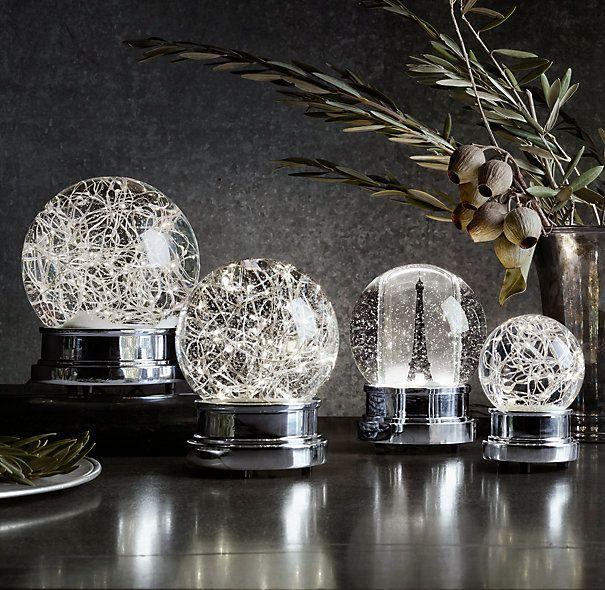 Restoration Hardware Xmas Lights: Starry Light Snow Globe - Medium