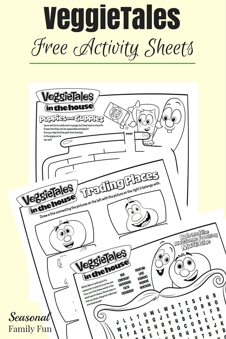 Veggietales penniless princess coloring pages - Free Veggietales Activity Sheets