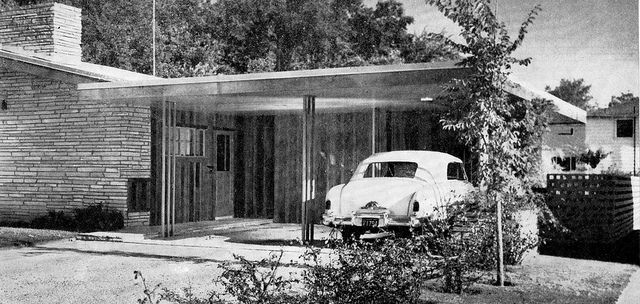 1950's House #Vintage #House #Home #Garage #Glass #Classic ...