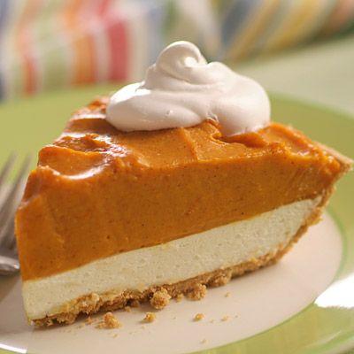 Double Layer Pumpkin Pie (Easy; 8 servings)
