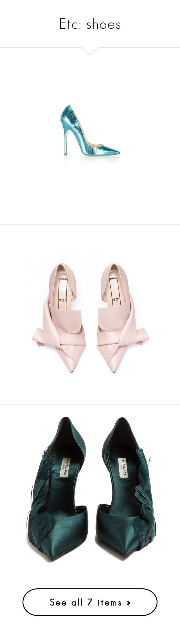 """""""Etc: shoes"""" by evalevmar ❤ liked on Polyvore featuring shoes, pumps, nude court shoes, nude pumps, nude summer shoes, calf leather shoes, bow shoes, balenciaga, heels and high heels"""