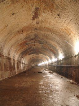 Underground tunnel at 8th Street in Kansas City....cool