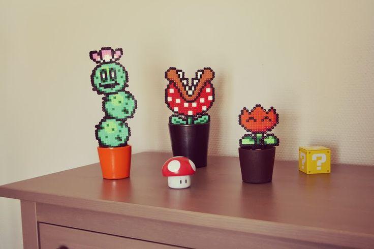 Des plantes Mario en perles à repasser !