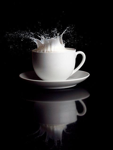 White tea cup.  For similar pins please follow me at -https://www.pinterest.com/annelouise1959/colour-me-monochrome-black-and-white/