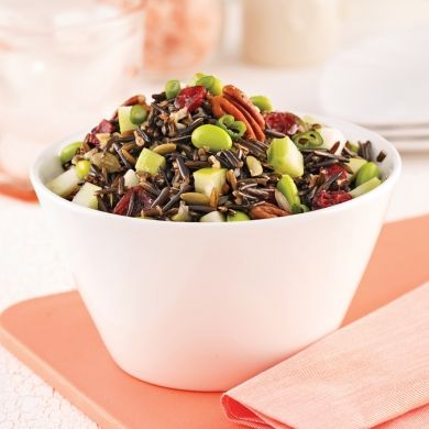 Salade de riz sauvage aux pommes et noix - Recettes - Cuisine et nutrition - Pratico Pratique