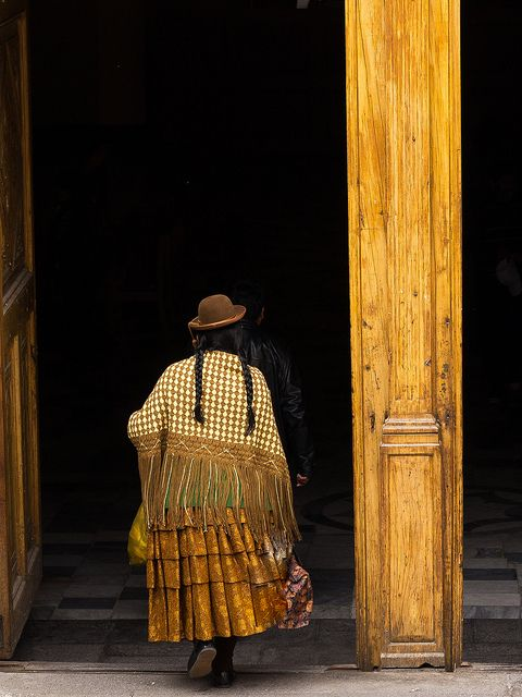 Peru's culture is largely influenced by Catholic and pagan tradition. Woman goes to the church in Arequipa - Peru | Flickr - Photo Sharing!