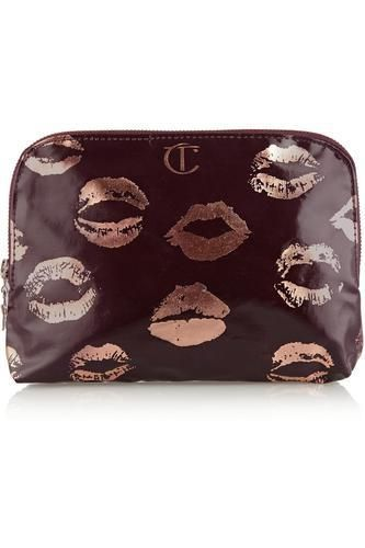 Signature coated twill makeup bag #accessories #women #covetme #charlottetilbury