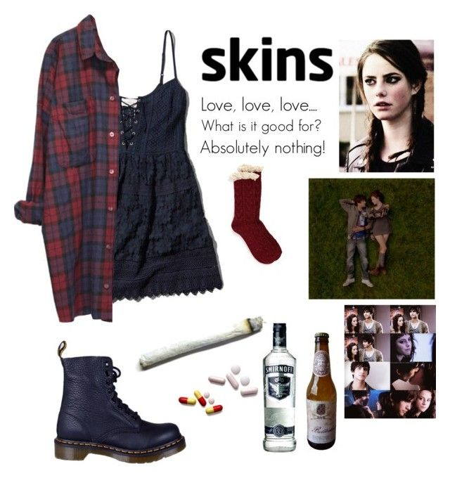 """""""Effy Stonem #1"""" by fran-peeters ❤ liked on Polyvore featuring Abercrombie & Fitch, Monki, Dr. Martens, Effy Jewelry and Free People"""