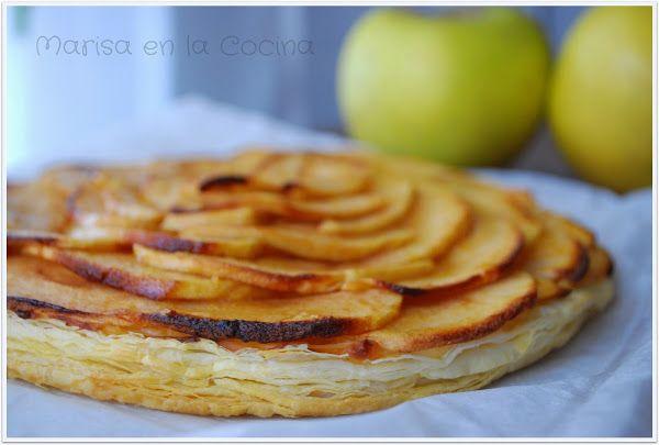 Con esta Tarta cremosa de manzanas y hojaldre ¡Se derretirán tus invitados y familiares!