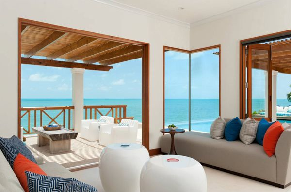 Tropical beach house on Turks and Caicos Islands