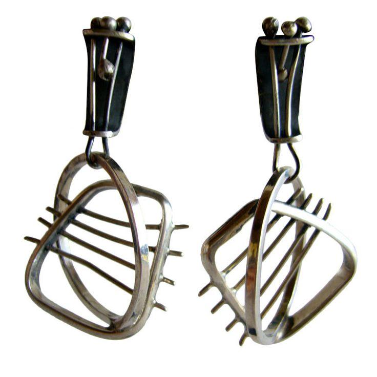 ED WIENER Studio Sterling Earrings