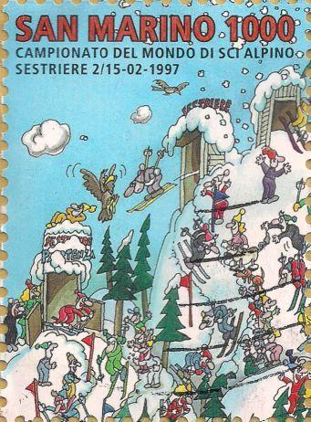 Briefmarke-Europa-Südeuropa-San Marino-1000-1997-1997-Campionato del Mondo di sci alpino-1700