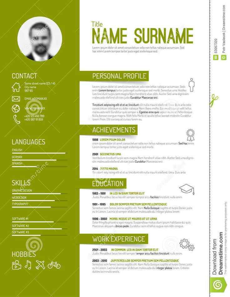 Best 10+ Curriculum Vitae Simple Ideas On Pinterest | Plantilla