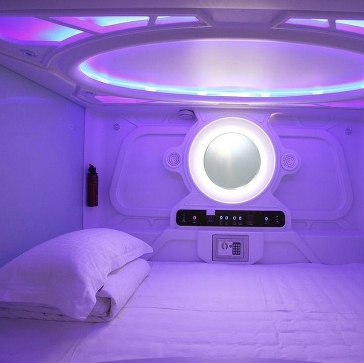 Le au Pengheng Space Capsules Hotel en Chine