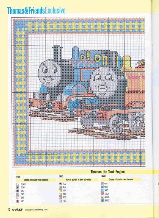 Thomas Tank Cross Stitch