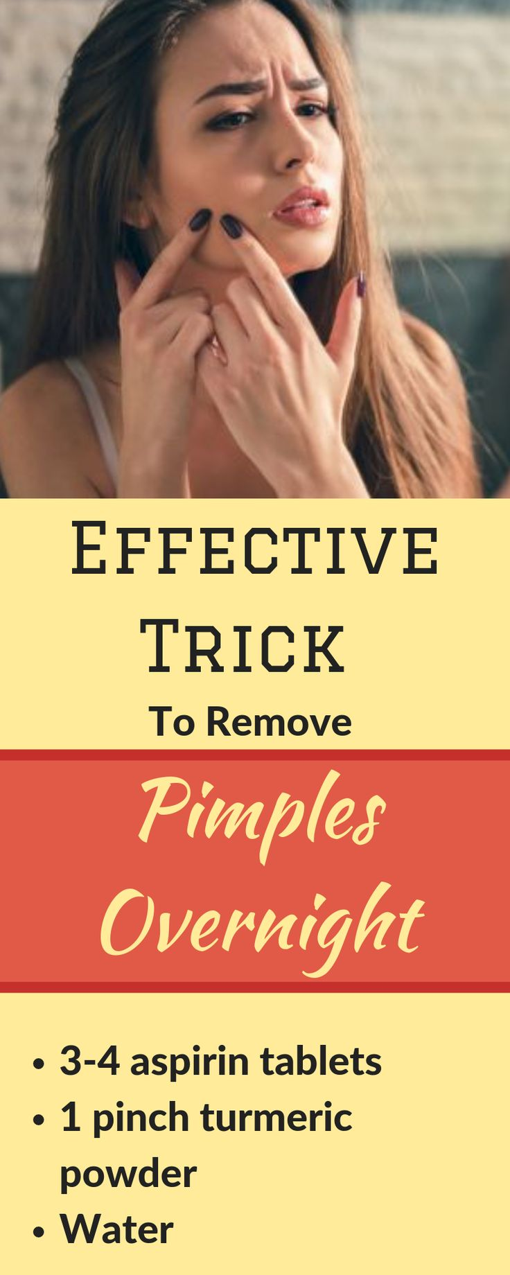 Effective trick to remove pimples overnight