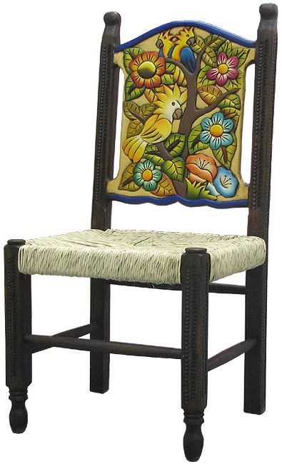 Lg. Woven Birds & Flowers Chair