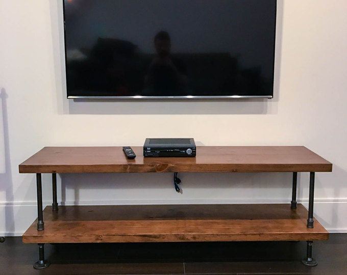 Rustic industrial TV stand | rustic industrial coffee table | industrial chic console table | rustic furniture | pipe wood table bench