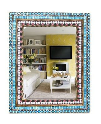 Blue Stone Mosaic Wall Mirror Contemporary Wall Art on Shimply.com
