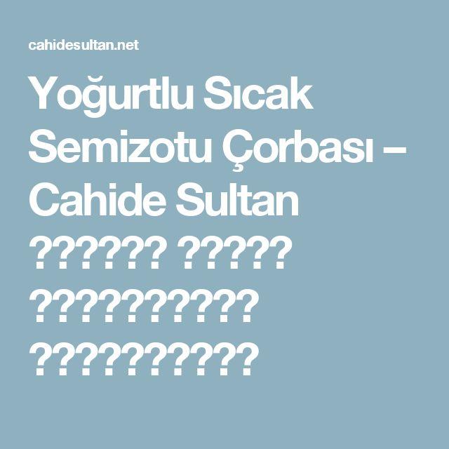 Yoğurtlu Sıcak Semizotu Çorbası – Cahide Sultan بِسْمِ اللهِ الرَّحْمنِ الرَّحِيمِ