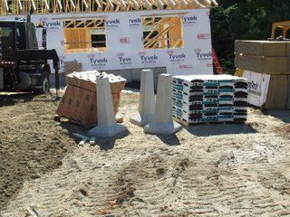 precast concrete piers footings 1000 ideas about concrete footings on deck 4392