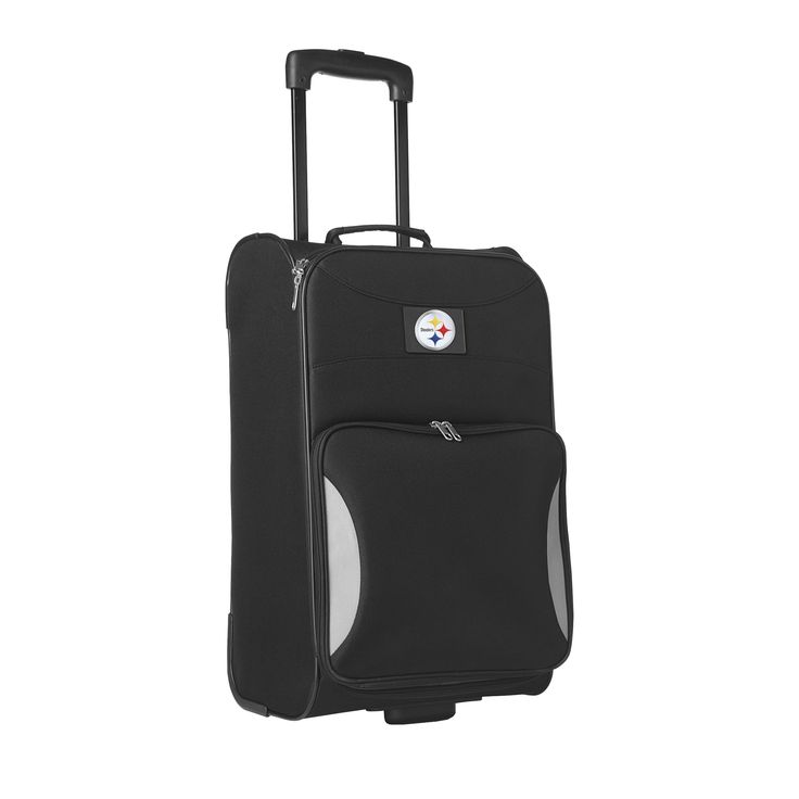 Sports Licensed Division Steadfast 18-inch Pittsburgh Steelers Rolling Carry-on Upright Suitcase