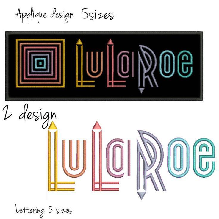 LuLaRoe applique Embroidery Design set digital download mode design logo pattern instant download by GretaembroideryShop on Etsy