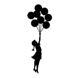 Banksy-Flying Balloon Girl Stencil