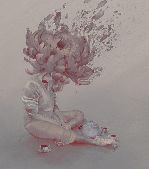 La infinita tristeza de ser un crisantemo on Behance