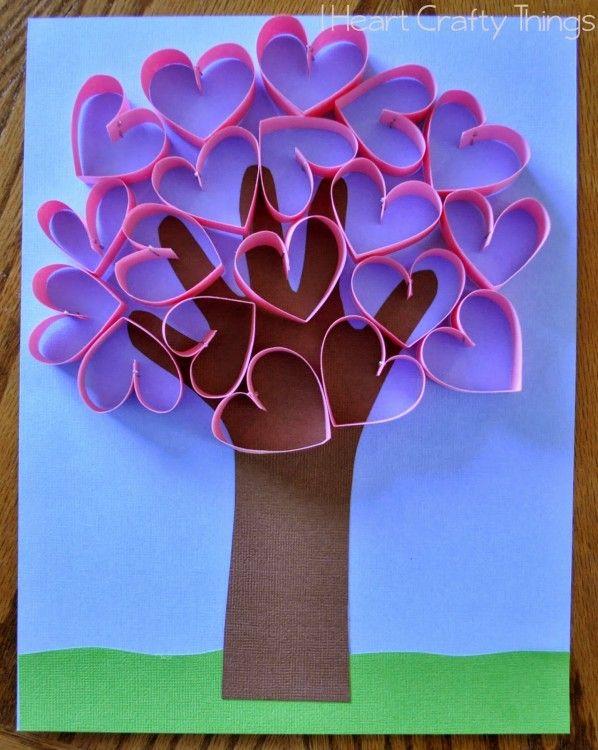 Handprint coração Árvore Craft | I Heart Crafty Coisas