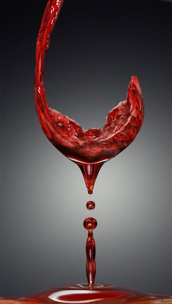 liquid wine glass - by Juletjess
