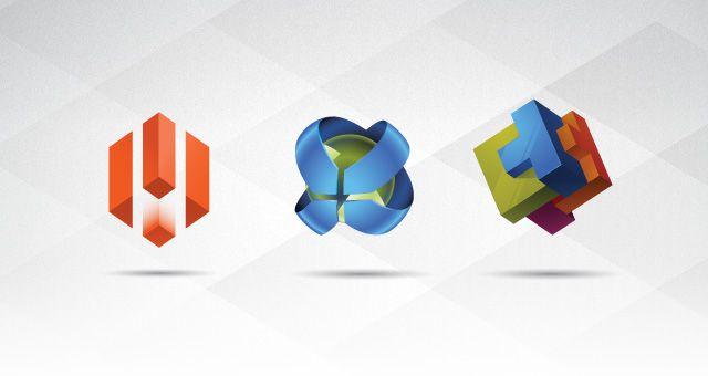 3D Logo Templates Set 01