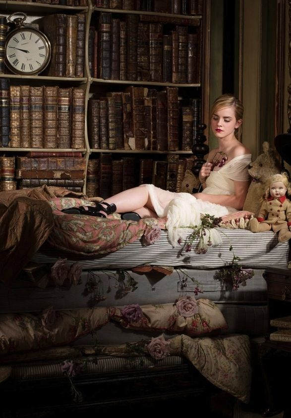 Emma Watson as The Princess and the Pea (Photo GalaxieMag ... Emma Watson Book