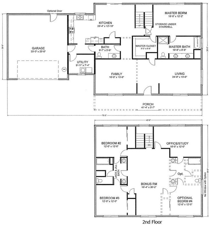 150 best home plans images on pinterest floor plans for Stick built homes floor plans