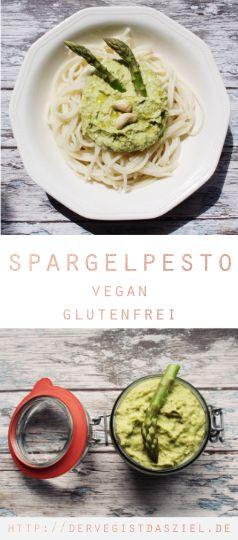 Spargelpesto, Spargelrezept, vegan, glutenfrei, Pesto, Spargel, Rezept