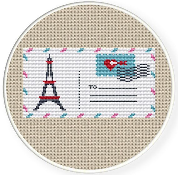 Instant Download,Free shipping,Counted Cross stitch pattern,Cross-Stitch PDF,A love letter from paris,zxxc0344 via Etsy