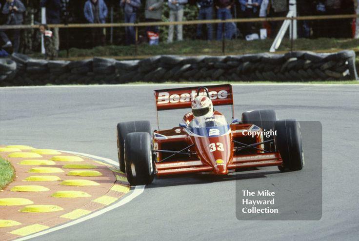 Alan Jones, Beatrice Lola THL1, at Druids Bend, Brands Hatch, 1985 European Grand Prix. #f1 #formula1