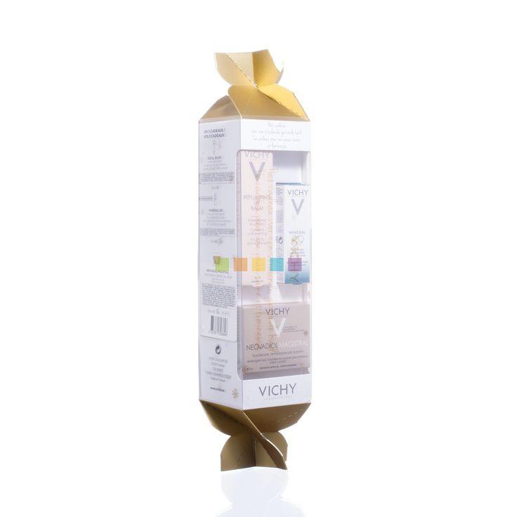 De ideale huid is geen droom meer, ook na de menopauze. Voor alle vrouwen na de menopauze die de postmenopauzale effecten op hun huid, zoals een afnemende huiddichtheid en een brozer en droger wordende huid, willen bestrijden. Het plezier van een voedende textuur die de huid en de zintuigen vult en een comfortabel gevoel geeft. Vichy Neovadiol Magistral nu in feestelijk cracker verpakking met + gratis Ideal Body Lippenbalsem (15 ml) & Minéral 89 (5 ml). Ontdek het bij PharmaMarket.