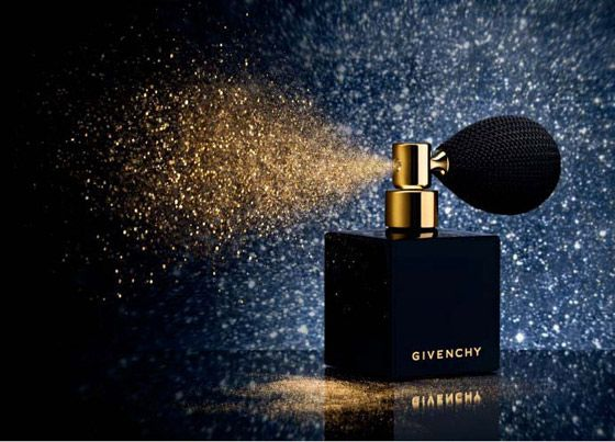 L'Or Celeste by Givenchy: Gold shimmer powder in a boudoir style atomizer. http://tinyurl.com/74sdjx9