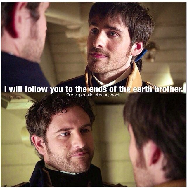 Killian and his brother. he only says that too/about those he truly loves