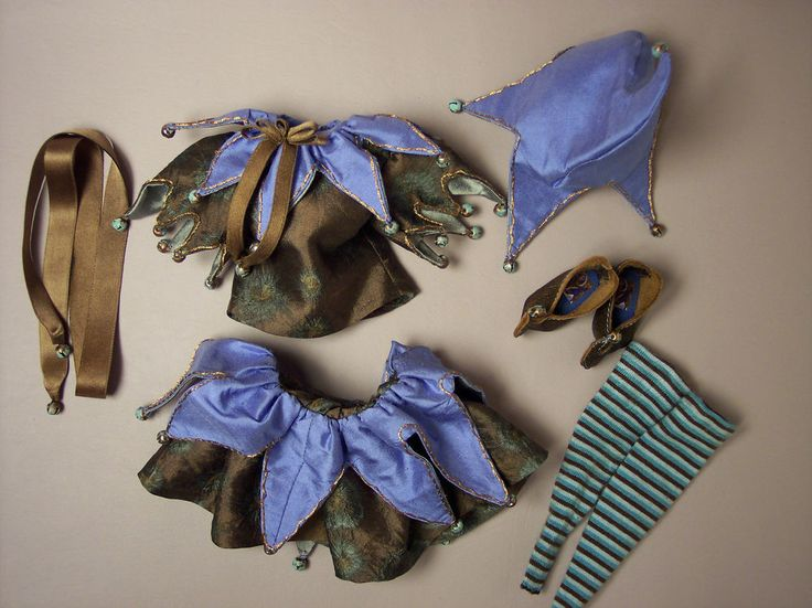 WONDERFUL JESTER OUTFIT BY BLUEBIRD TEXTILES for BLEUETTE