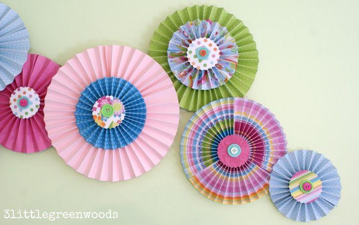 Веерные вертушки из бумаги: очаровательные handmade идеи + мастер-класс