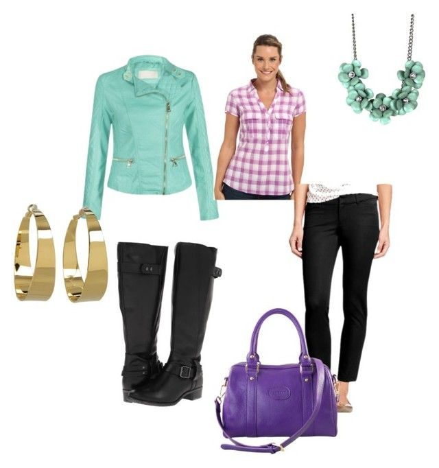 Purple & Mint by tracey-matthews-jennings on Polyvore featuring Columbia, Old Navy, Hush Puppies, Erica Anenberg and Vince Camuto