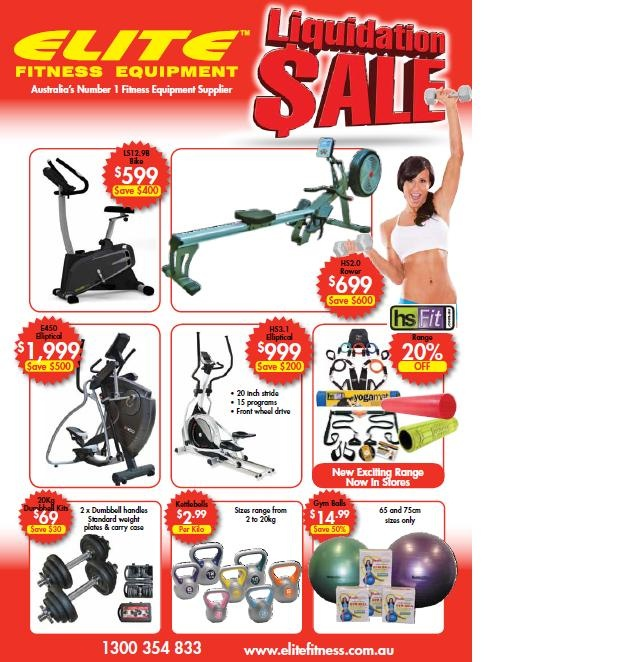 January Sale at Elite Fitness Equipment Highpoint.