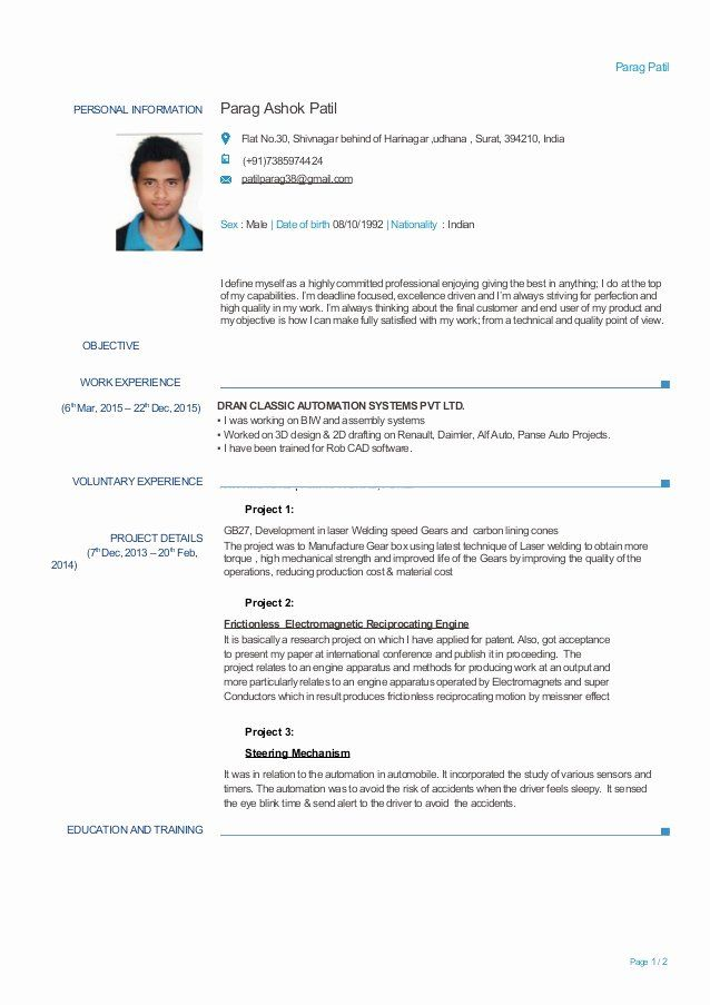 Mechanical Design Engineer Resume Luxury Experienced Mechanical Engineer Resume Mechanical Engineer Resume Engineering Resume Civil Engineer Resume