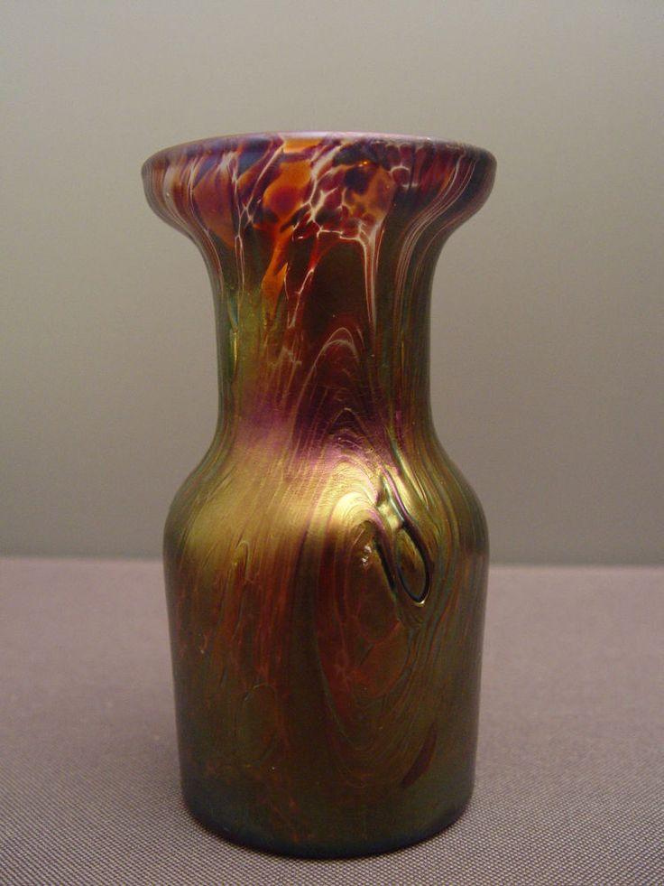Vase Glasvase glass irisierend signiert Franz Austen
